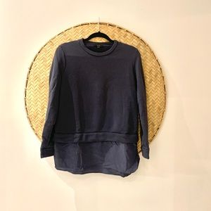 COS Blue Looker Style Sweatshirt with Silk